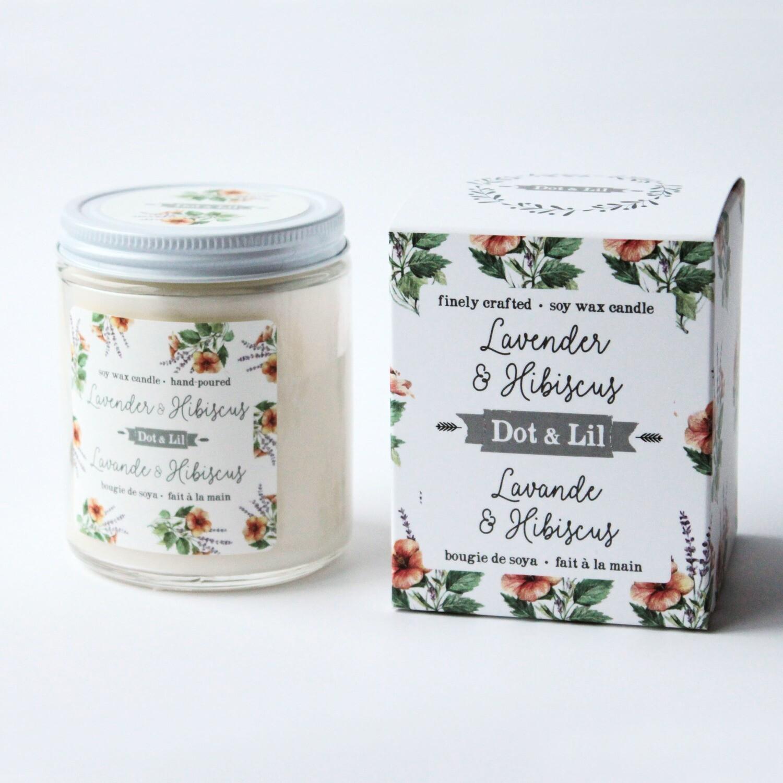 Lavender & Hibiscus Candle