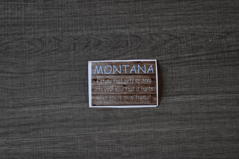 Montana gets so deep bumper sticker