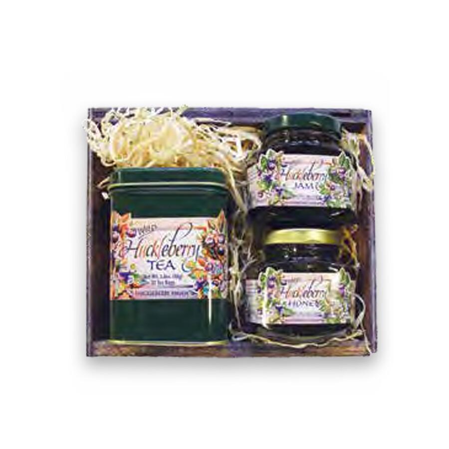 5 oz. Jam, 5 oz. Honey, Tea Tin Gift Crate