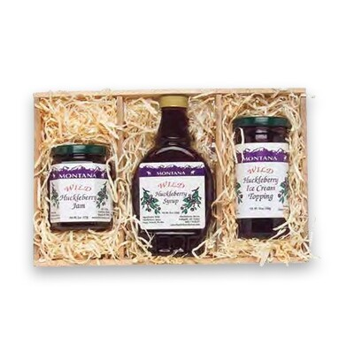 8 oz. Jam, 10 oz. Syrup, 12 oz. Topping Gift Crate