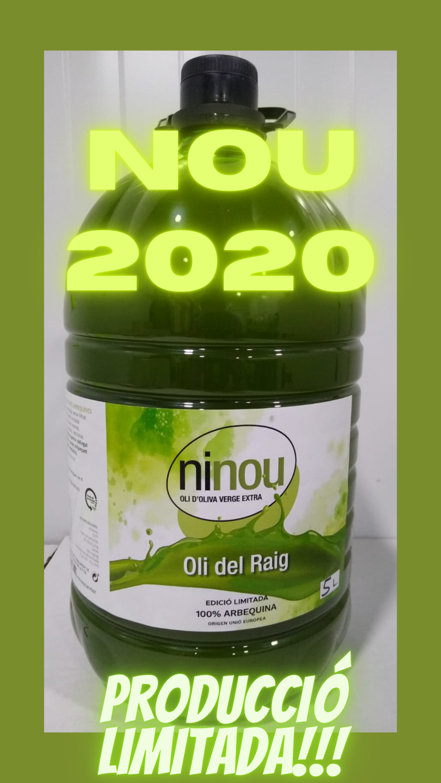 ninou Oli del Raig 5lt - 2/4 un. Enviament gratuït Catalunya
