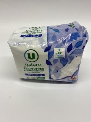 Serviettes nuit ultra mince hypoallergénique U X10 - BIO