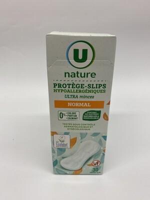 Protège slip ultra mince hypoallergénique U X30 - BIO