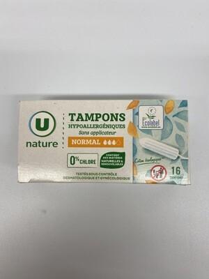 Tampon pour foufouillon sans applicateur hypoallergénique U X16 - BIO