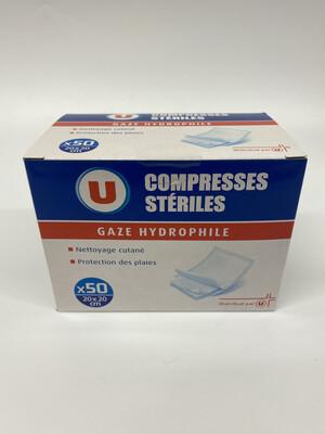 COMPRESSE STERILE U 20X20 X50