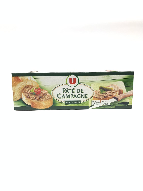 Pâté de campagne  U (3 × 78g)