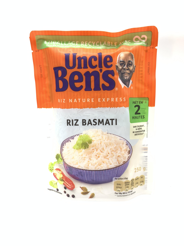 RIZ BASMATI UNCLE BEN'S (riz nature express) 250g