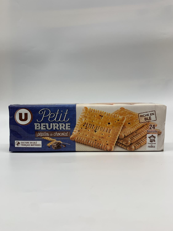Petit beurre pépite de chocolat U 24 biscuit 200g