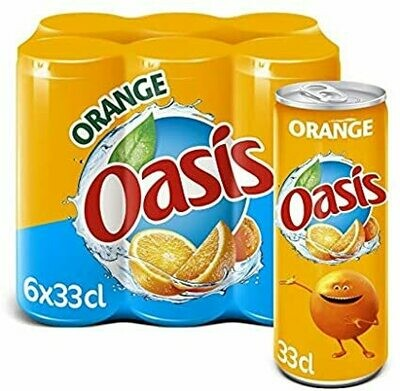 OASIS ORANGE SLIM CAN 6X33CL