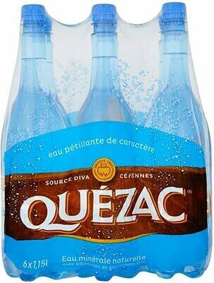 Eau minérale naturelle pétillante Quezac 1,15L X6