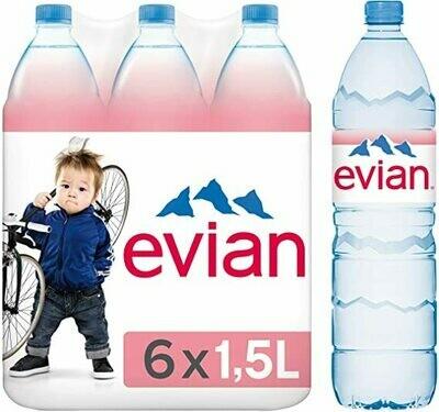 EAU MIN.NATURELLE EVIAN 6X1,5L