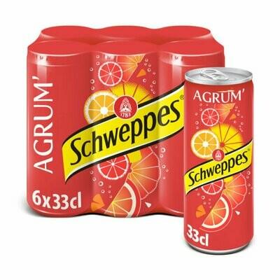 SCHWEPPES AGR SLIM CAN 6X33CL
