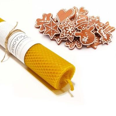 Свеча медовая с ароматом - Имбирное печенье