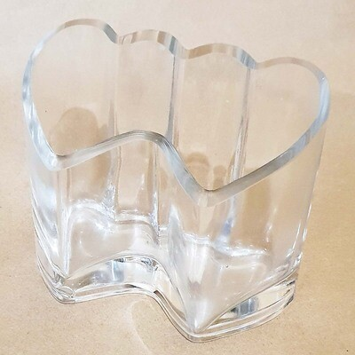 Ваза сердце под свечу 15х9,5 см