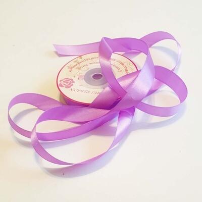 Лента атласная 16 мм Фиолетовая - 1 метр