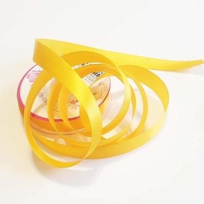 Лента атласная 16 мм Желтая - 1 метр