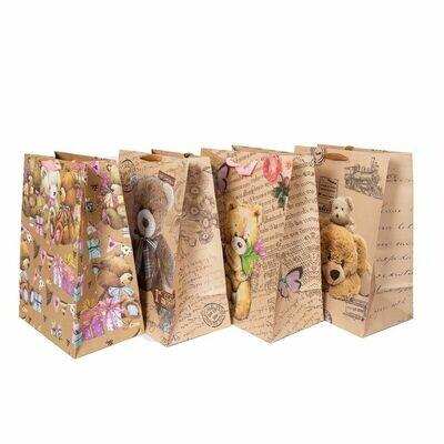 Пакет крафт мишки 31*45*19 см