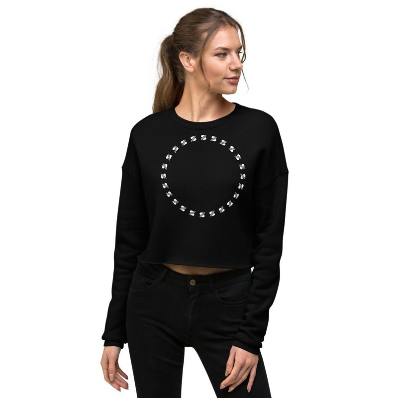 lay down your crown - Crop Sweatshirt