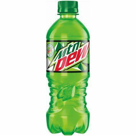 Mountain Dew 20oz Bottle