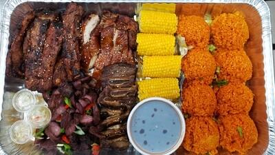 IC's BBQ familia Platter for 4