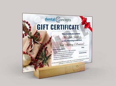 Teeth Whitening Gift Certificate (Premium Whitening)