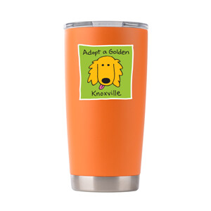 -Logo Powder Coated Stainless Tumbler