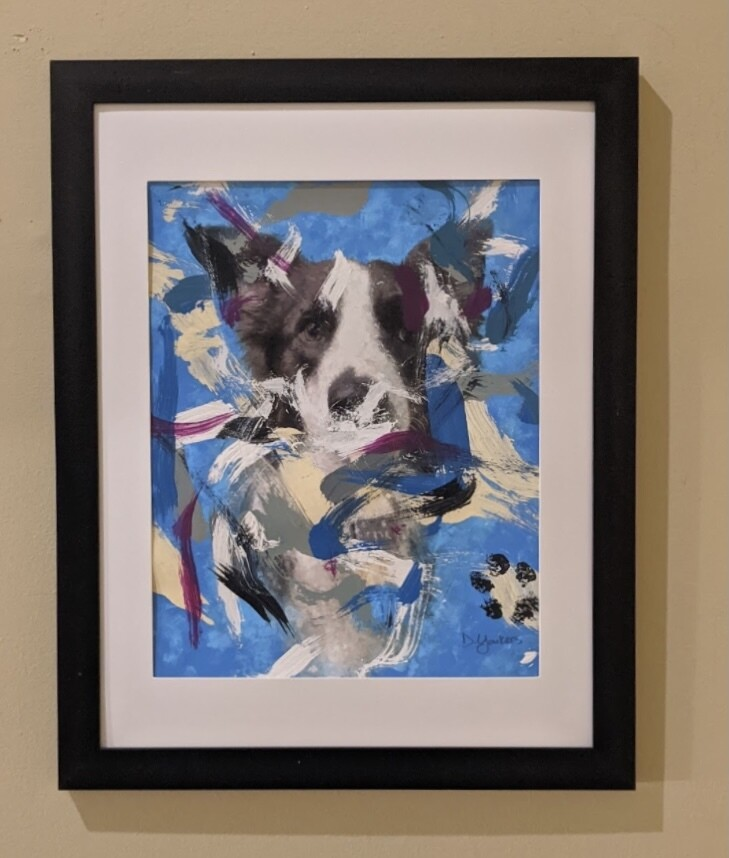 Leonard the Painting Dog