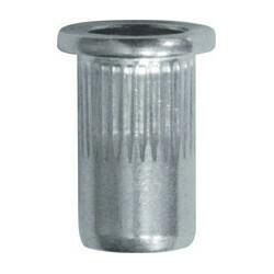 Neetmutter, alumiinium M6-1.00 0,5 → 3 mm