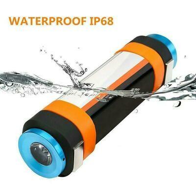 LED  аккумуляторный водостойкий фонарик
