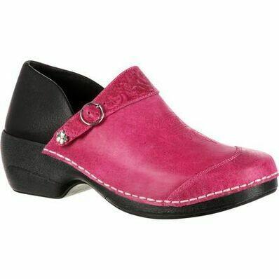 Rocky 4eursole Work Shoe Womens Western Embellished Clog