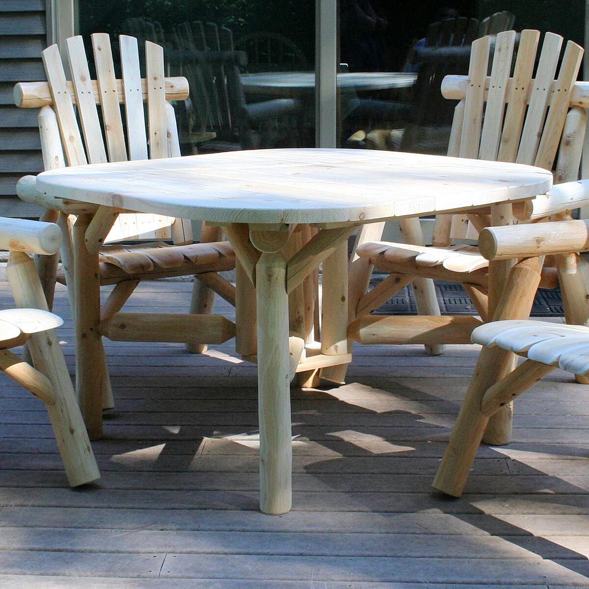 """Cedar / Pine  47"""" Dining Table  With 4 Cedar Chairs"""