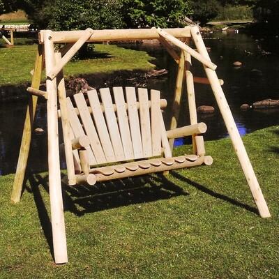 CFU18 4 ' Log Yard Swing with A-Frame