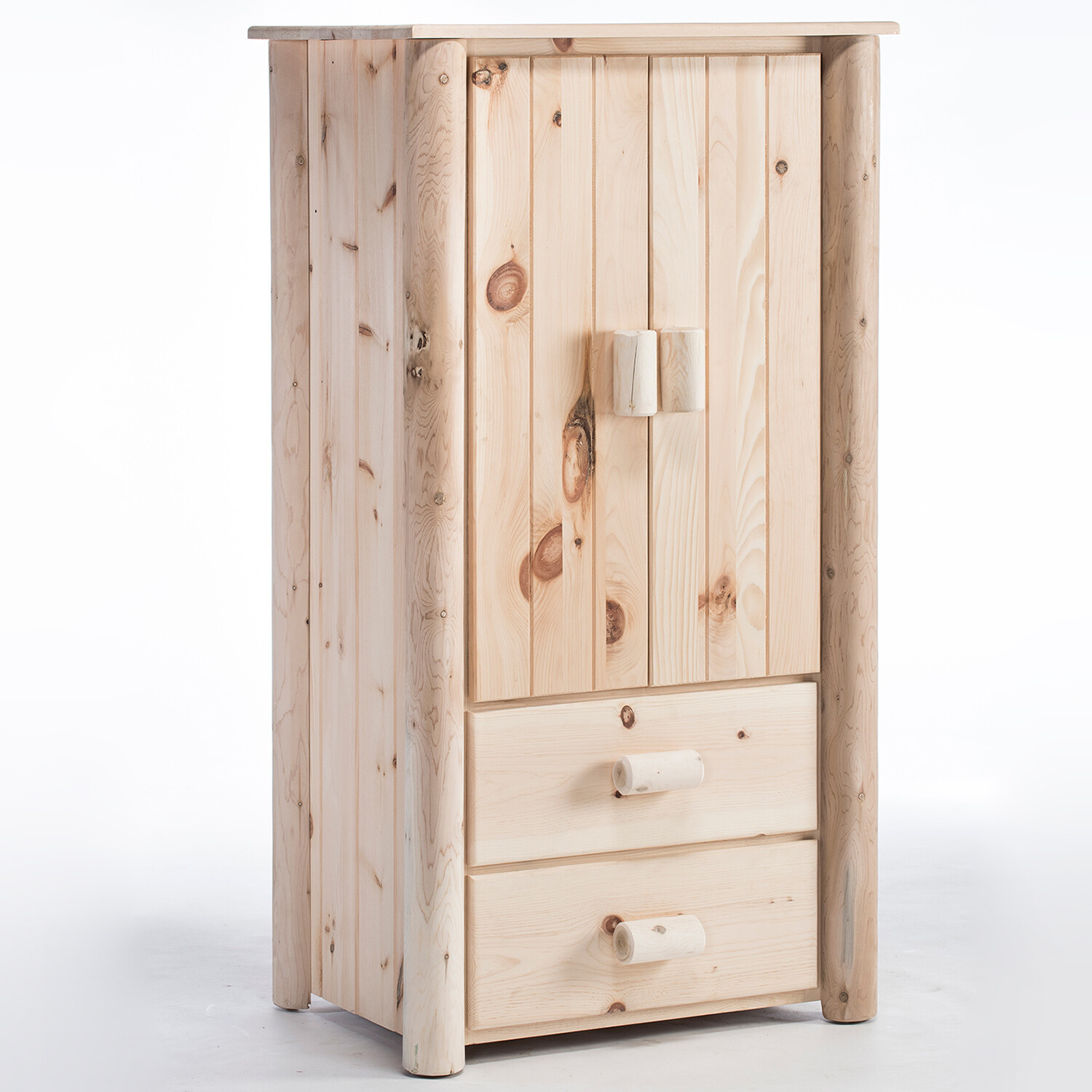 H20/N Frontier Log Armoire, Unfinished
