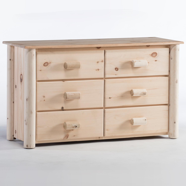 H6/N Frontier Log 6 Drawer Dresser, Unfinished