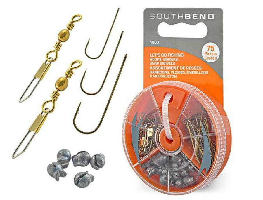 South Bend 1000 Hook-Sinker-Swivel 75 Piece Assortment