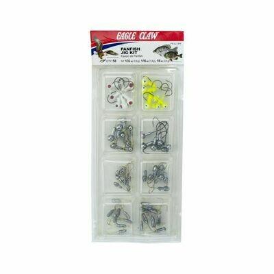 Eagle Claw Panfish 58 piece Jig Kit PFKITPF