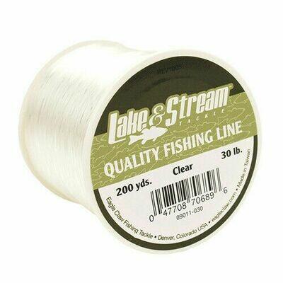 Eagle Claw Lake & Stream 30lb Mono Line, Clear, 200Yds