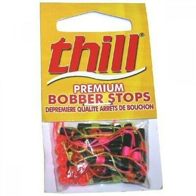 Thill BSA18 Bobber Stops and Beads, 18 Pack Assorted Colors