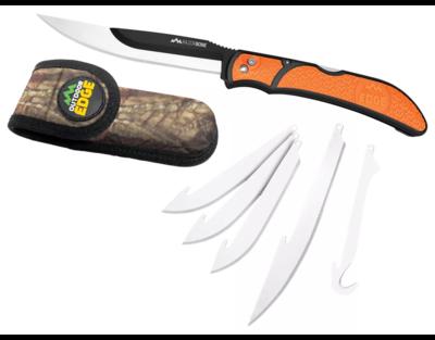 Outdoor Edge RazorBone  Folding Blade Knife, 5 blades, Sheath RBB-20C
