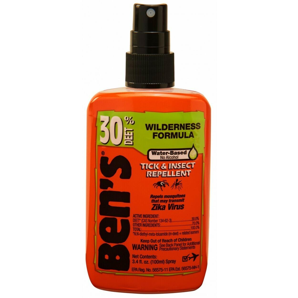 Ben's Insect & Tick Repellent 3.4oz pump spray 30% Deet
