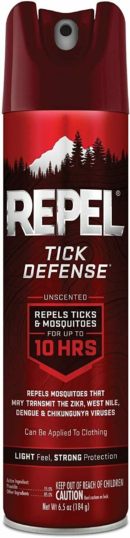 Repel HG-94138 Tick Defense Insect Repellent, 6.5oz  Aerosol
