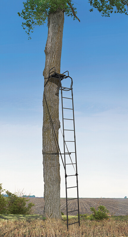Big Game Warrior Pro 16' Ladderstand, Single With Padded Seat LS0100