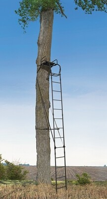 Big Game Warrior Pro 16' Ladderstand, Single With Padded Seat and Armrests LS0100