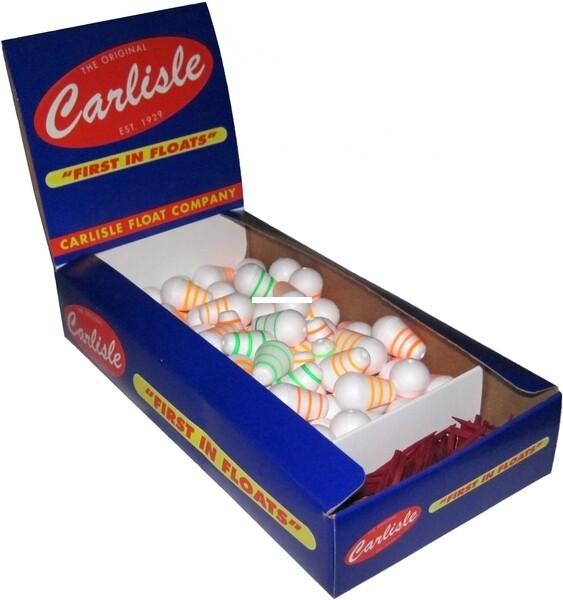 "Carlisle Fancy Floats Slotted Bobber 3/8 or 1/2"""