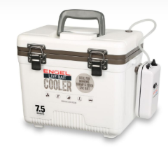 ENGLBC-07N  Engel Live Bait Cooler with 2 Speed Aerator Pump and Net, 7.5 Qt