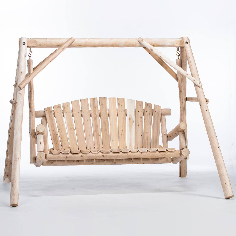 CFU28 Yard Swing With A-Frame, 5'  Cedar Log
