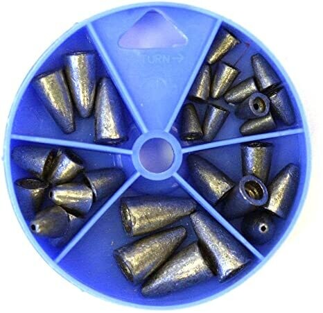 EAGLE CLAW 02180005 27 PIECE WORM WIEGHT PAN
