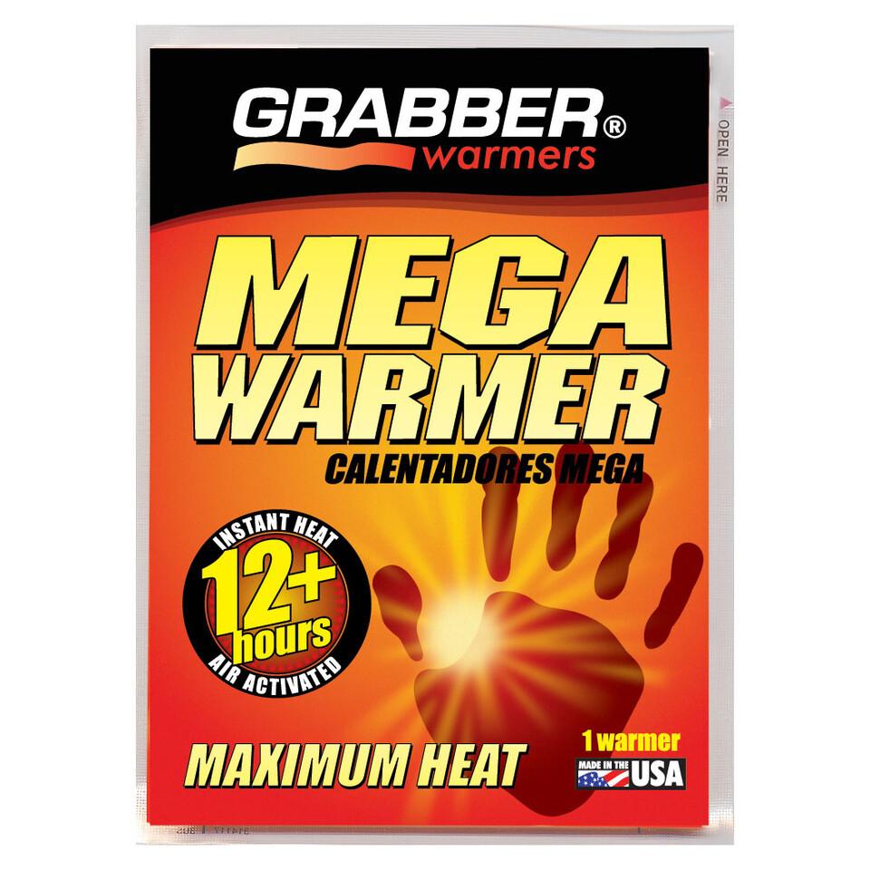GRABBER MEGA HAND WARMER, 12 HR, 1 PACK