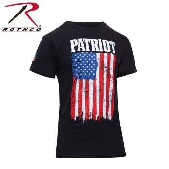 ROTHCO PATRIOT US FLAG T-SHIRT - BLACK