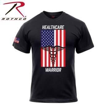 ROTHCO HEALTHCARE WARRIOR US FLAG T-SHIRT
